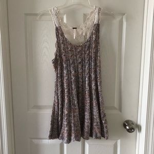 Free people lace back knitted tunic sz M